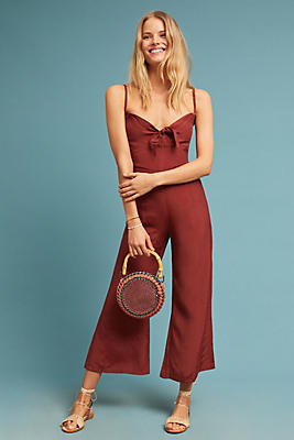 Slide View: 1: Faithfull Presley Cropped Jumpsuit