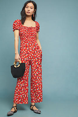 Slide View: 1: Faithfull Della Smocked Jumpsuit