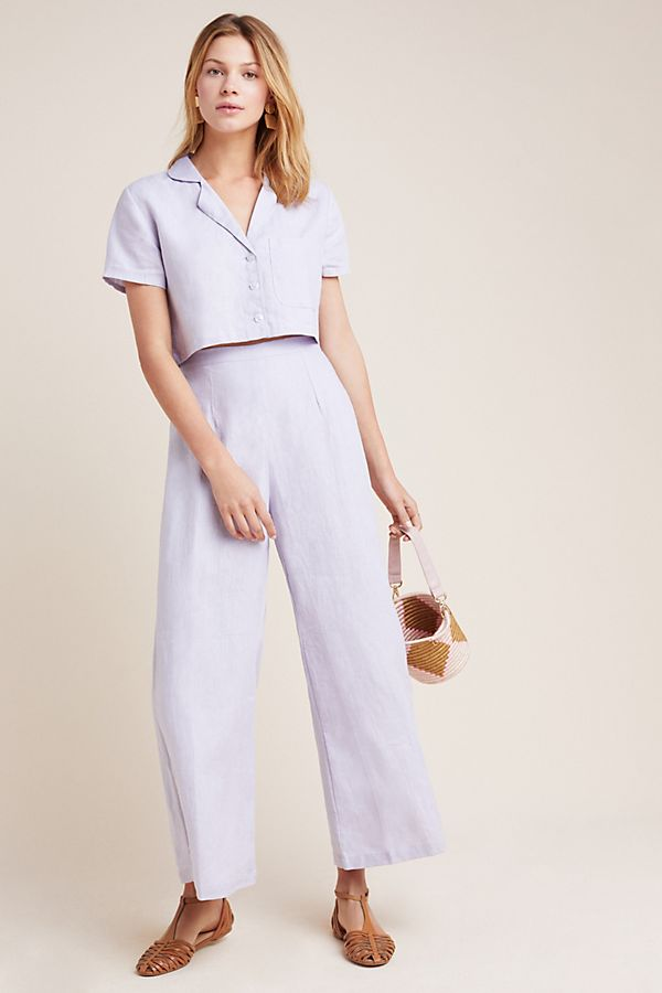 Slide View: 1: Faithfull Jacaranda Linen Pants