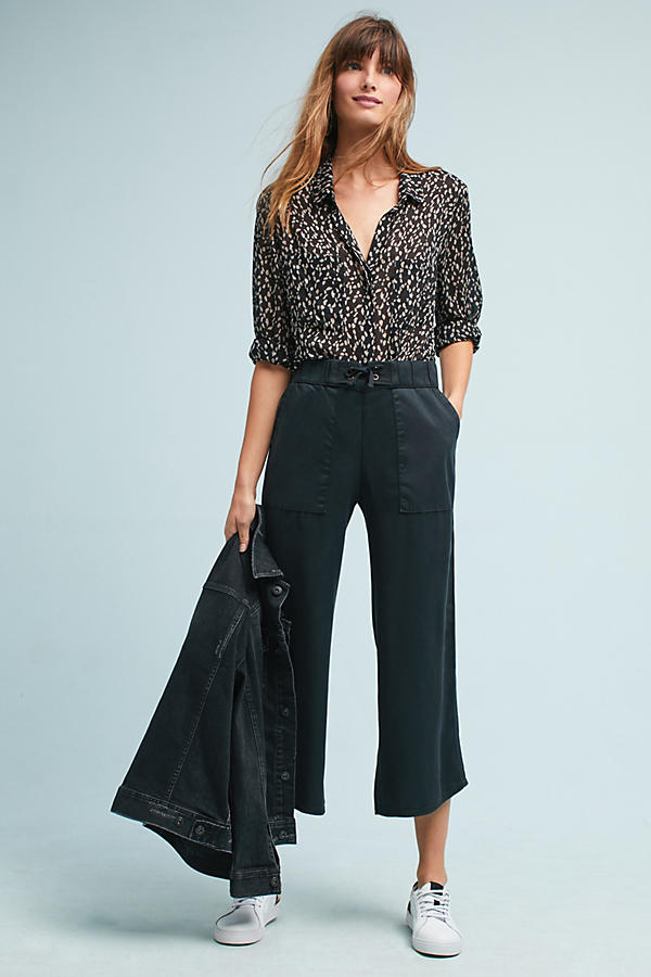 Slide View: 1: Lace-Up Cropped Pants