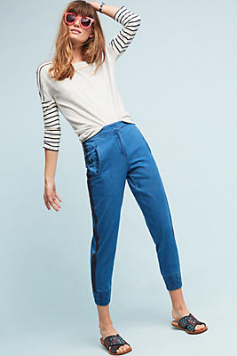 Slide View: 1: Chambray Joggers