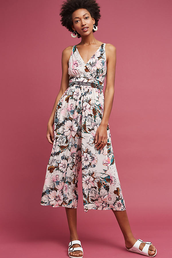 Gwyneth Floral Jumpsuit, Pink - Pink, Size Uk 10