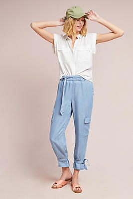 Slide View: 1: Ankle-Tied Utility Pants