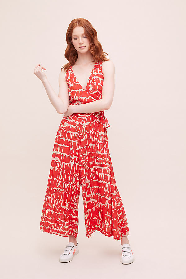Sunny Jumpsuit - Red, Size Uk 16