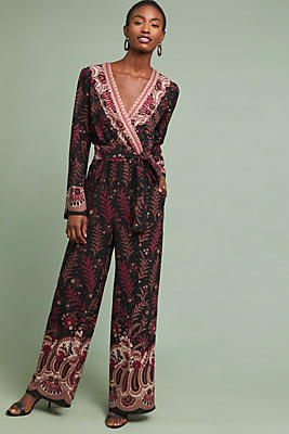 Slide View: 1: Breezeway Embroidered Jumpsuit