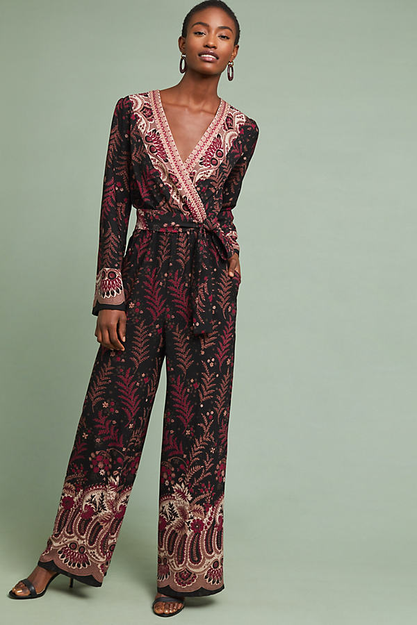 Breezeway Embroidered Jumpsuit - Assorted, Size Xl