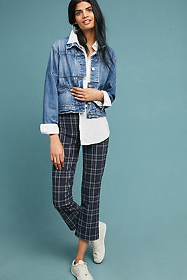 Slide View: 1: Campus Cropped Flare Pants
