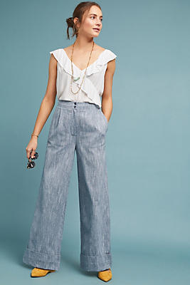 Slide View: 1: Harrison Wide-Leg Trousers