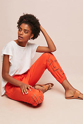 Slide View: 1: Solana Embroidered Joggers
