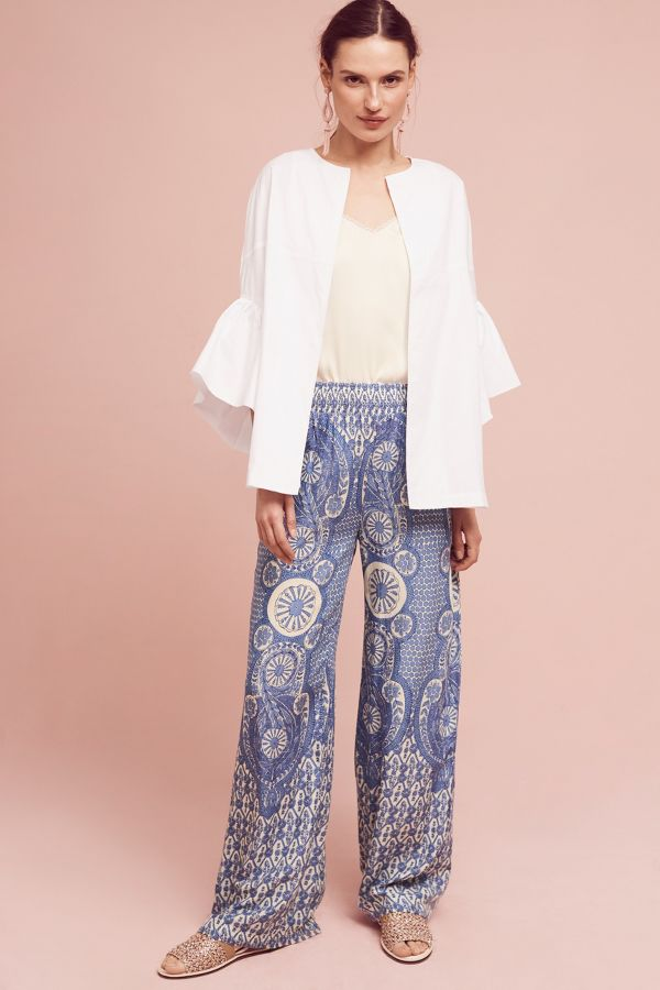 Lilka Medallion-Printed Lounge Pants
