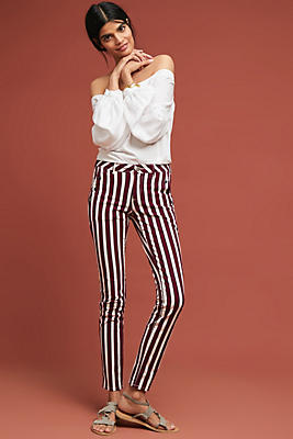 Slide View: 1: Striped Skinny Pants