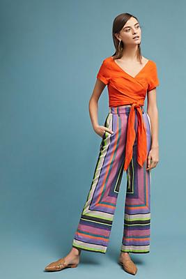 Slide View: 1: Mara Hoffman Aura Striped Pants