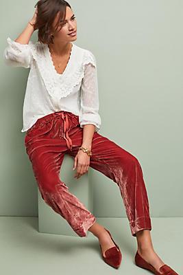 Slide View: 1: Nicola Velvet Pants
