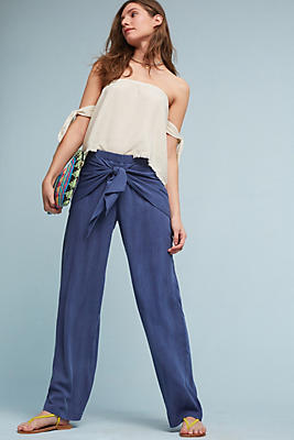 Slide View: 2: Irina Tie-Front Pants