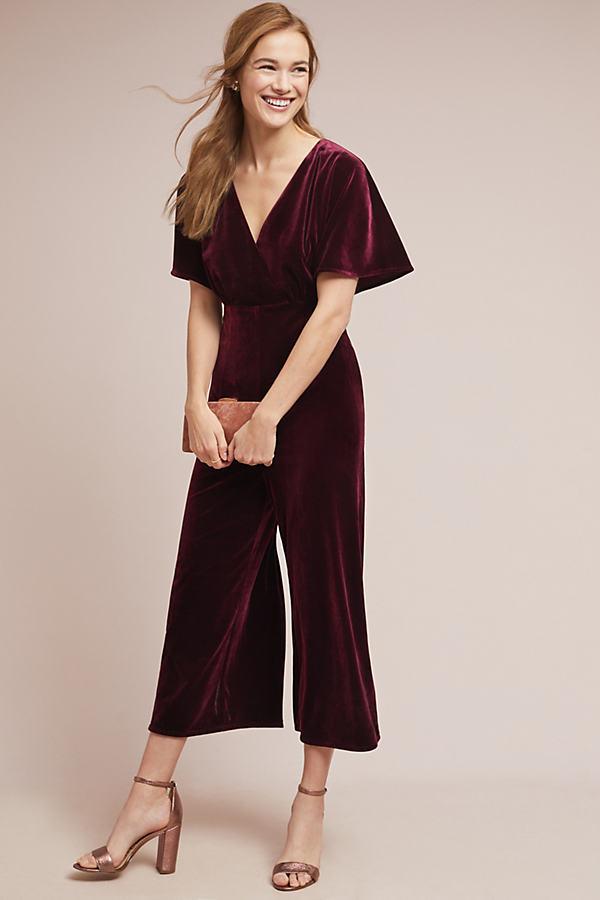 Luna Velvet Jumpsuit - Purple, Size L