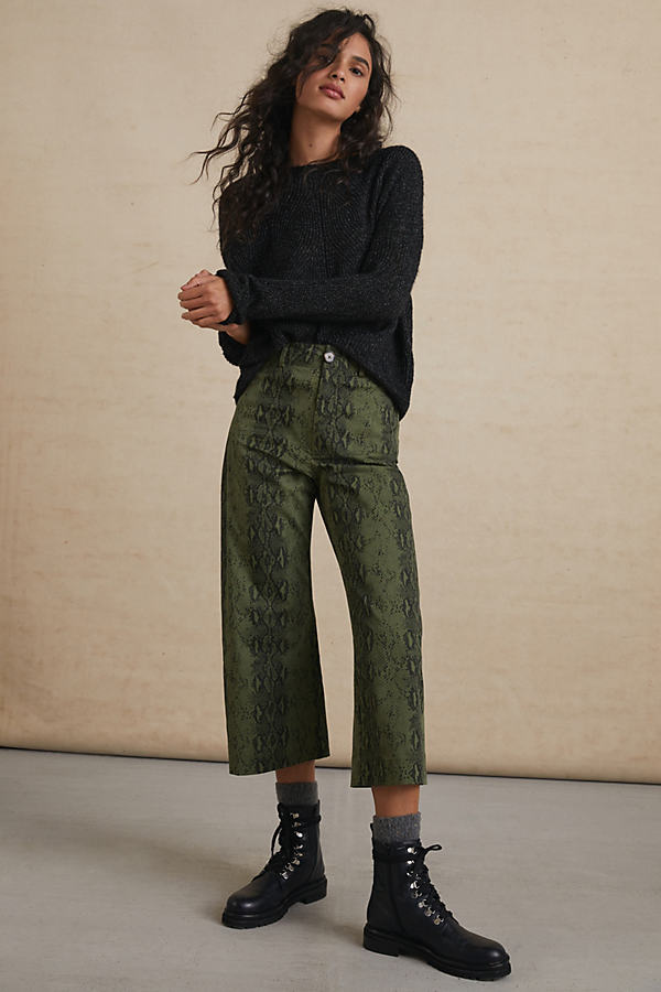 Adelyn Rae SERPENTINE CROPPED WIDE-LEG PANTS