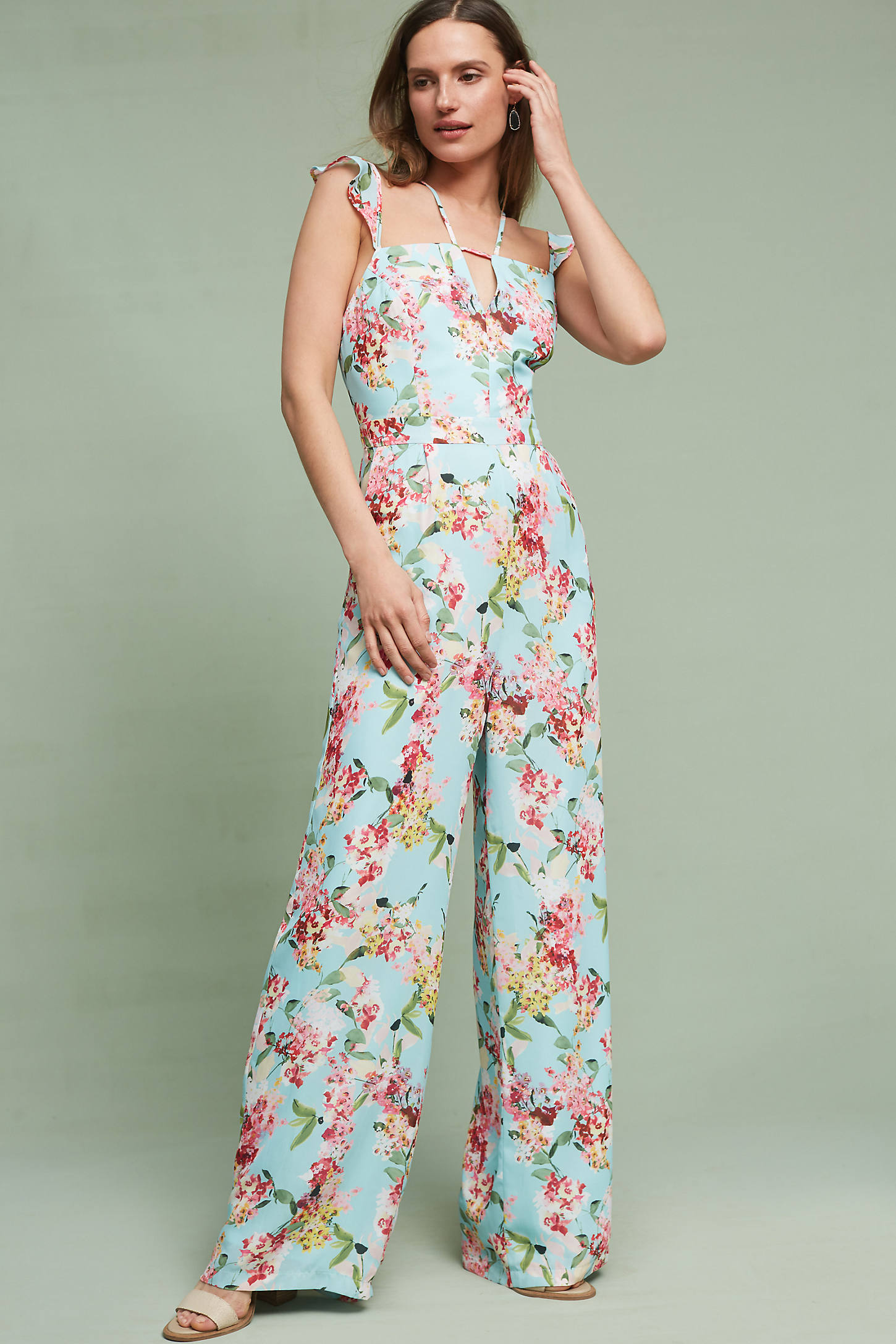Floral Flutter Jumpsuit