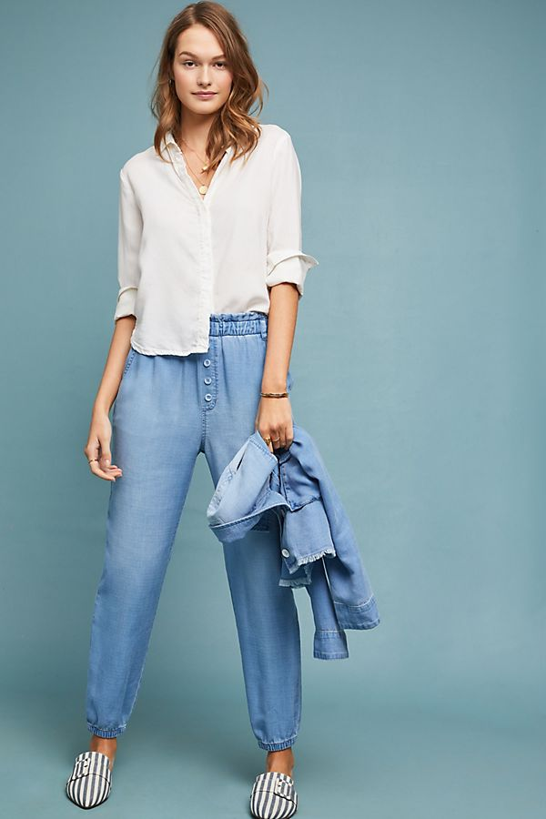 Slide View: 1: Cloth & Stone Jetsetter Chambray Pants