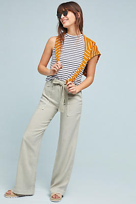 Slide View: 1: Cloth & Stone Belted Wide-Leg Pants