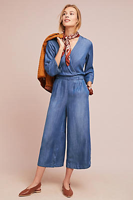 Slide View: 1: Cloth & Stone Chambray Jumpsuit
