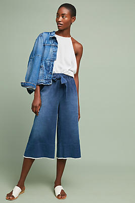 Slide View: 1: Cloth & Stone Balboa Cropped Wide-Leg Pants