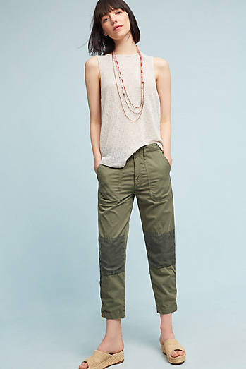 Mother The Army Racketeer High-Rise Skinny Cropped Jeans
