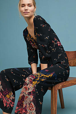Slide View: 1: Nara Floral Jumpsuit