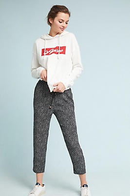 Slide View: 1: Track-Striped Joggers