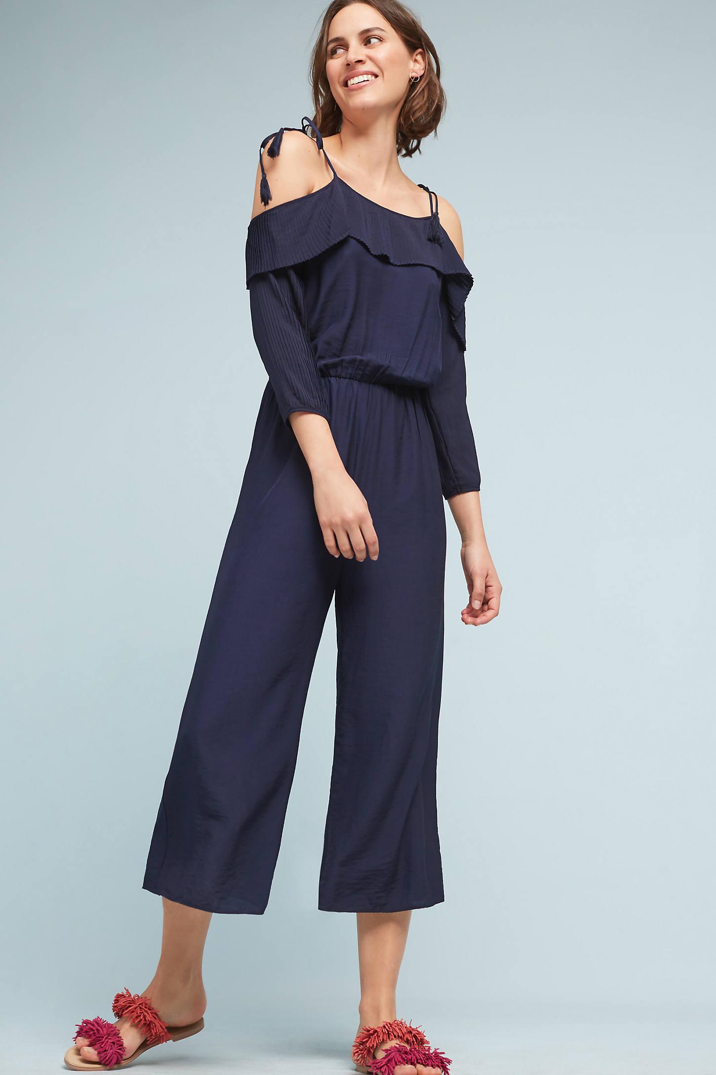 Vienne Open-Shoulder Jumpsuit