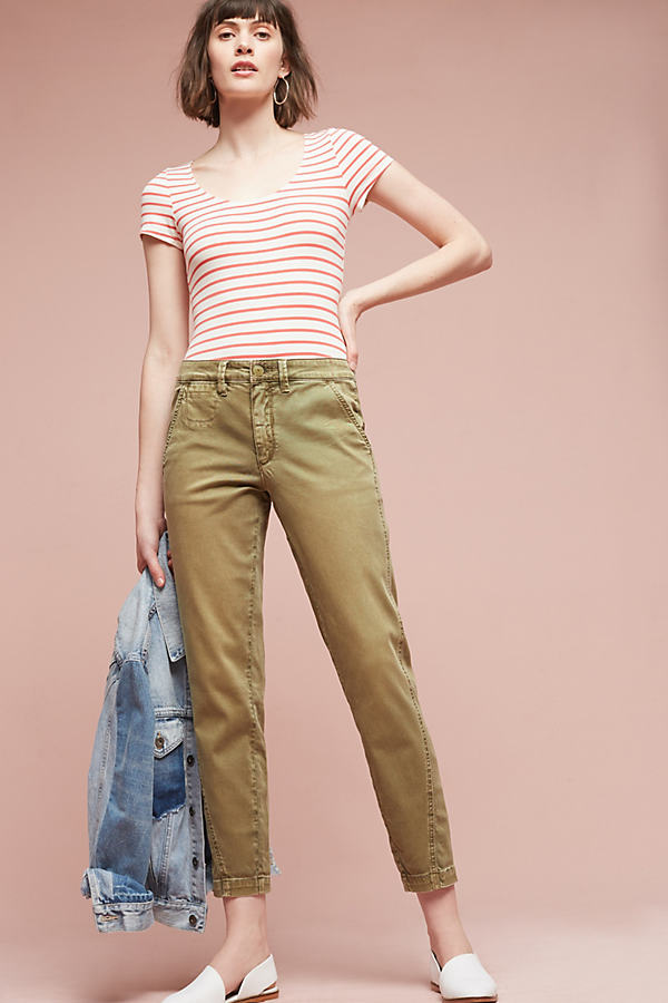 Joan Relaxed Chino Trousers - Holly, Size 27
