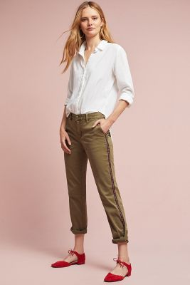 Relaxed Striped Chino Pants Anthropologie