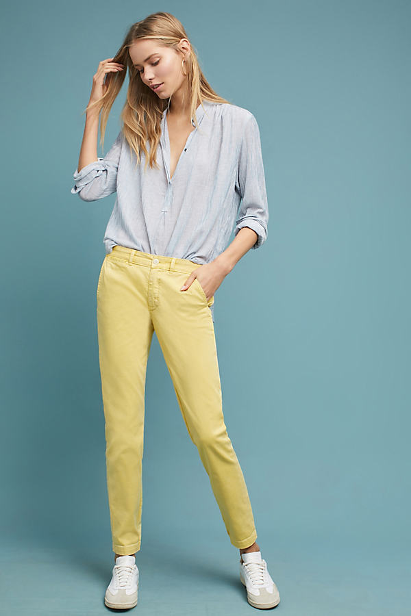 Relaxed Chino Trousers - Yellow, Size 30