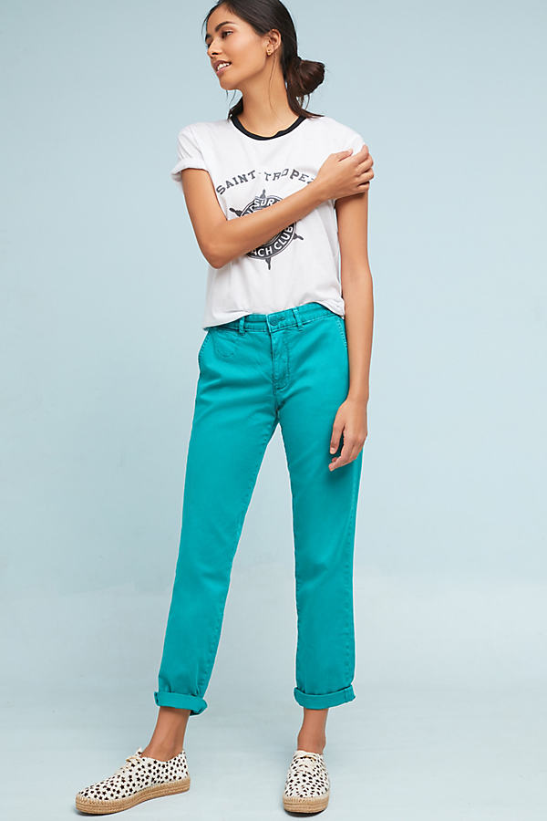 Relaxed Chino Trousers - Blue, Size 32