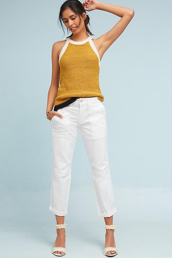 Washed Wanderer Utility Trousers - White, Size 27 Petite