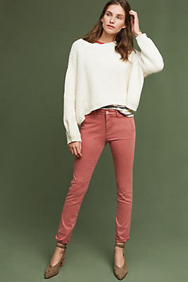 Slide View: 1: Abroad Sateen Skinny Trousers