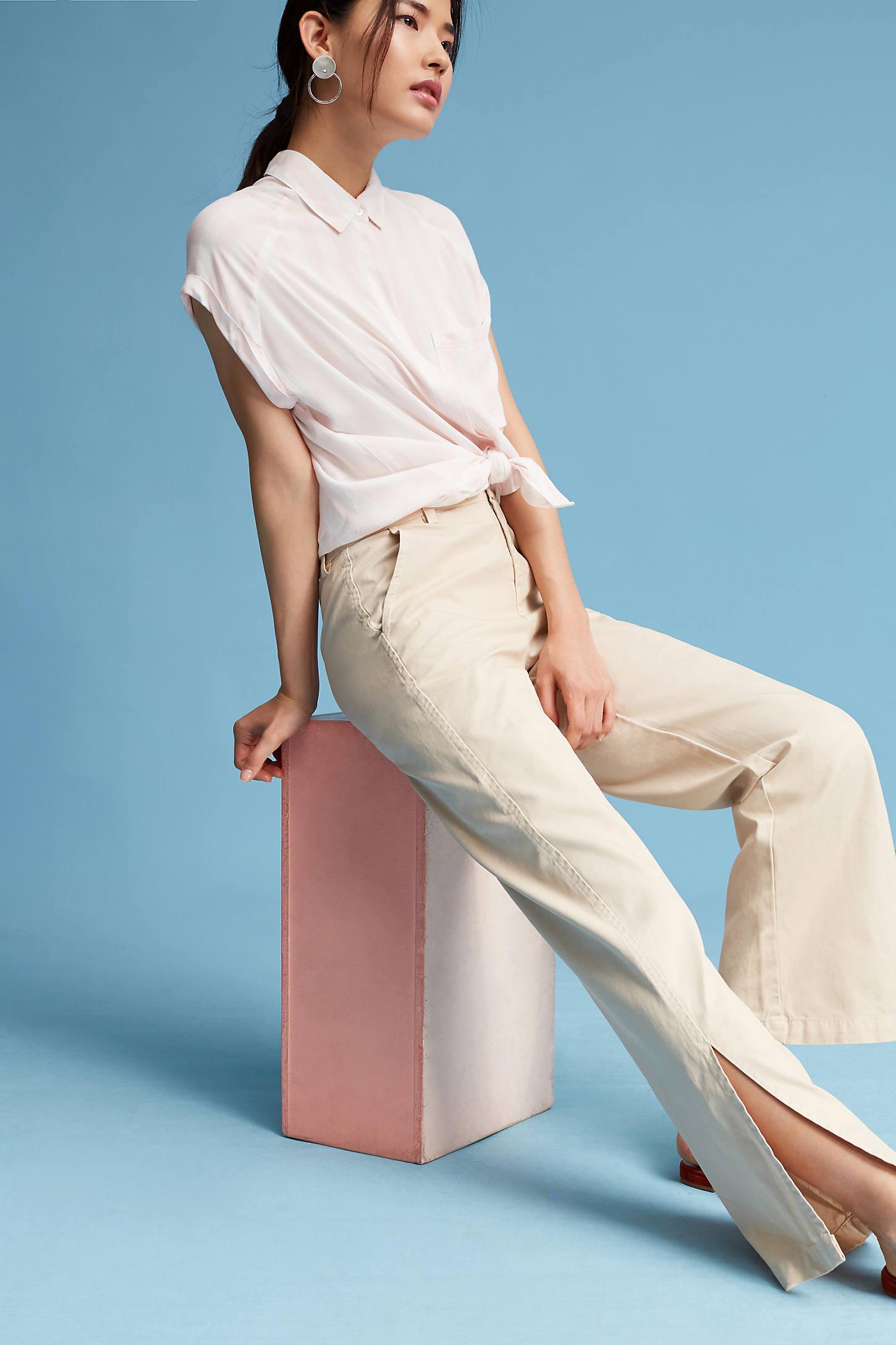 Petite Split Trousers