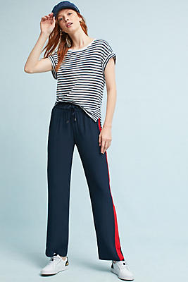 Slide View: 1: Lany Striped Track Trousers