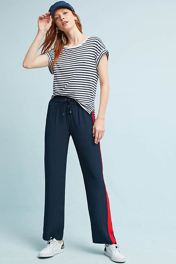 Lany Striped Track Trousers - Navy, Size S
