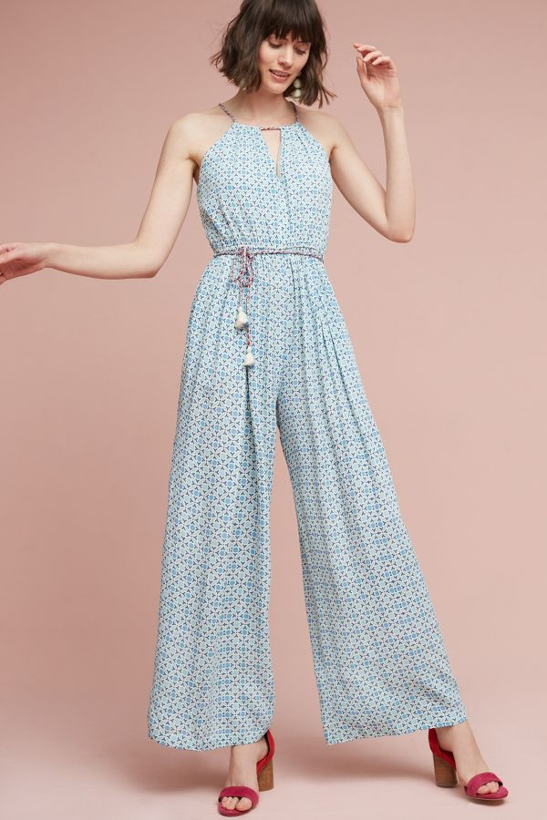 Conditions Apply Braided Halter Jumpsuit