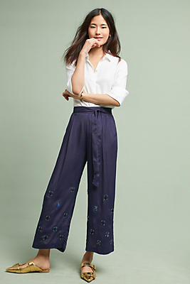 Slide View: 1: Caro Embellished Trousers