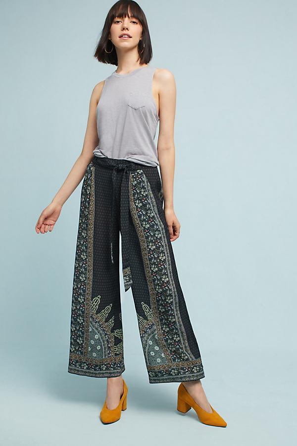 Jeanna Wide-Leg Trousers - Carbon, Size Xs