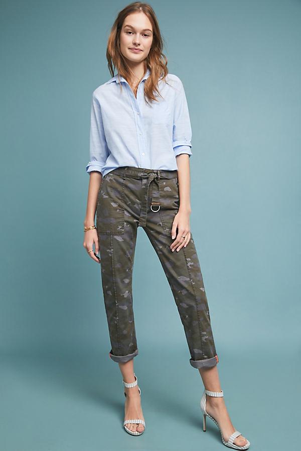 Wanderer Utility Trousers - Green, Size 30
