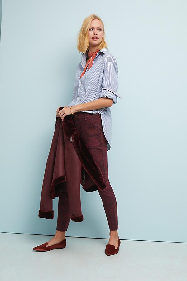 Cadet Slim Utility Trousers - Purple, Size 31