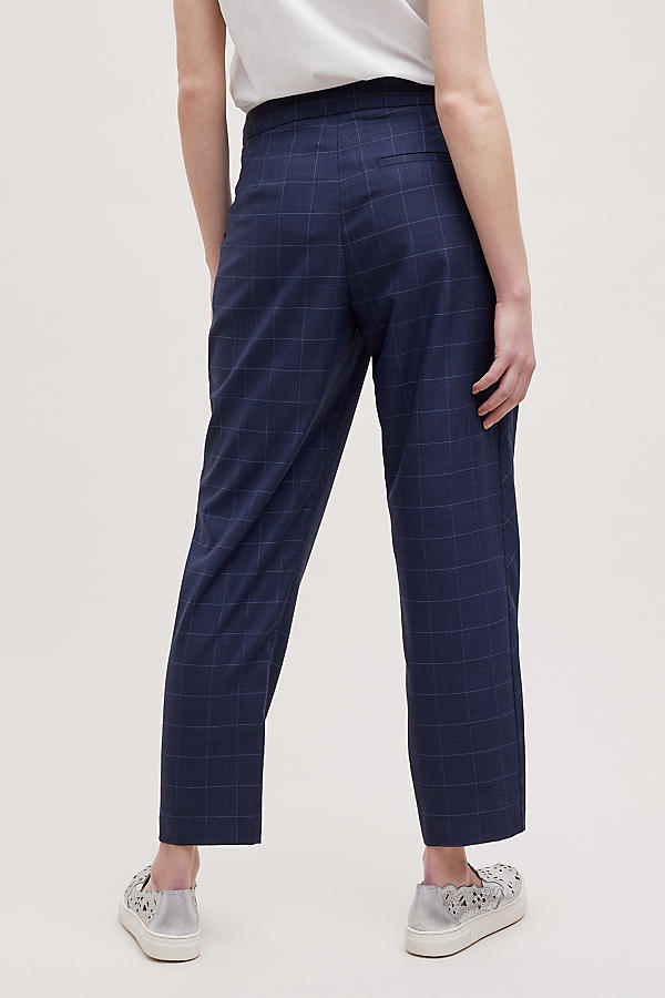 Slide View: 2: Helana Checked-Cropped Trousers