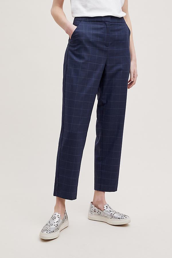 Slide View: 3: Helana Checked-Cropped Trousers
