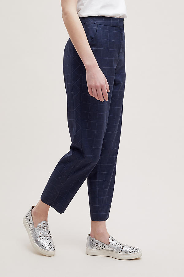 Slide View: 4: Helana Checked-Cropped Trousers