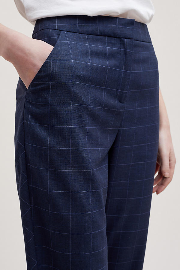 Slide View: 5: Helana Checked-Cropped Trousers