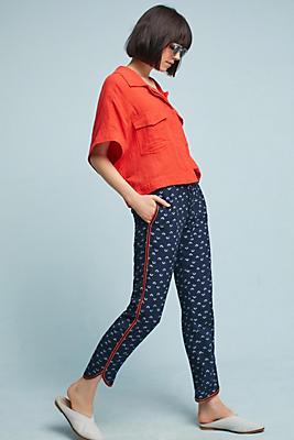 Slide View: 1: Fan-Printed Trousers