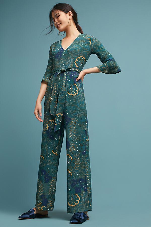 Esre Floral Hideaway Jumpsuit - A/s, Size Uk 12
