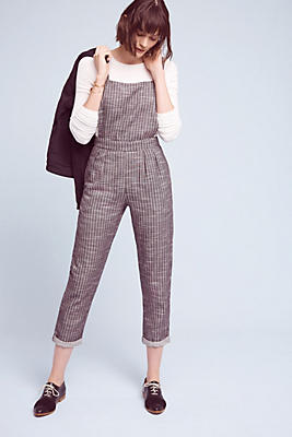 Slide View: 1: Wemley Striped Jumpsuit